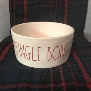 Rae Dunn 'JINGLE BONES' Dog Bowl